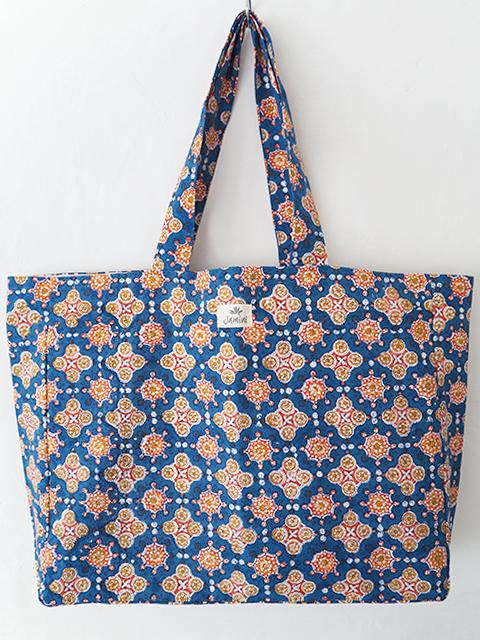 Jamini ジャミニ ビーチバッグ Beach Bag・ANTARA Blue(W59xH38xマチcm)