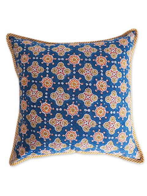 Jamini ジャミニ クッションカバー Cushion-cover・ANTARA BLUE(W40xH40cm/Type.A)(カバーのみ)