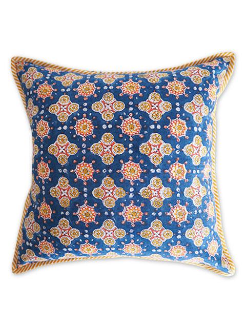 『お値引き10%OFF』Jamini ジャミニ クッションカバー Cushion-cover・ANTARA BLUE(W40xH40cm/Type.C)(カバーのみ)