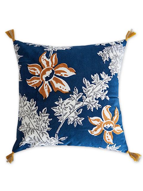 Jamini ジャミニ クッションカバー Cushion-cover・DEVI BLUE(W40xH40cm/Type.A)(カバーのみ)