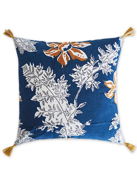 Jamini ジャミニ クッションカバー Cushion-cover・DEVI BLUE(W40xH40cm/Type.B)(カバーのみ)