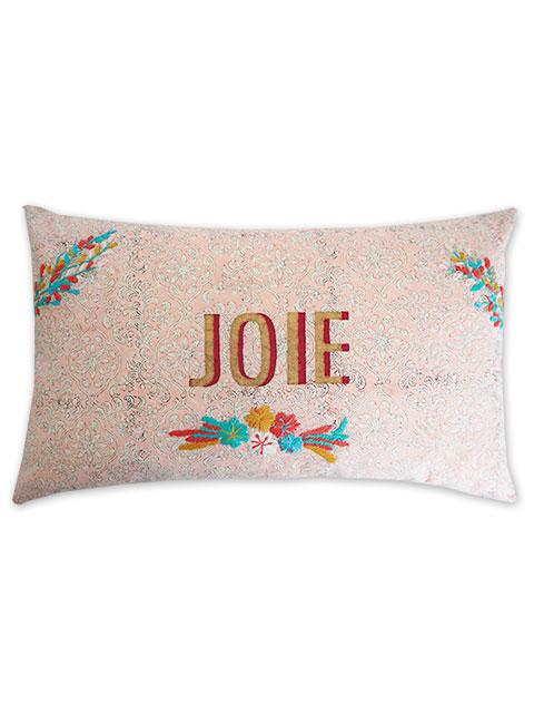 """Jamini ジャミニ クッションカバー Cushion-cover・CARMA PINK/JOIE/""""喜び""""(W50xH30cm/Type.A)(カバーのみ)"""