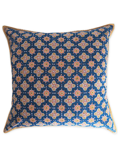 Jamini ジャミニ クッションカバー Cushion-cover・ANTARA BLUE(W60xH60cm/Type.A)(カバーのみ)