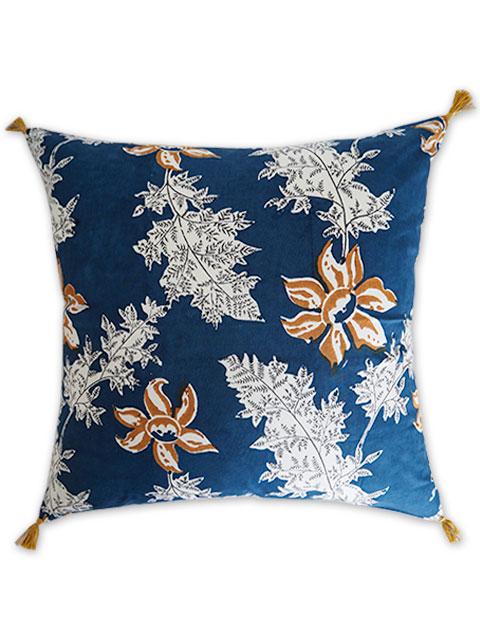 Jamini ジャミニ クッションカバー Cushion-cover・DEVI BLUE(W60xH60cm)(カバーのみ)