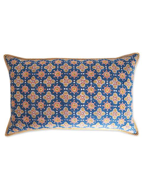Jamini ジャミニ クッションカバー Cushion-cover・ANTARA BLUE(W65xH40cm/Type.A)(カバーのみ)