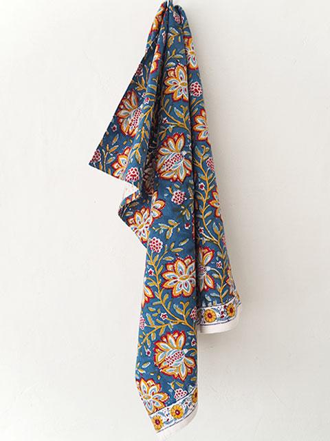 Jamini ジャミニ キッチンタオル Kitchen Towel・LOUISE Blue(W50xH70cm)