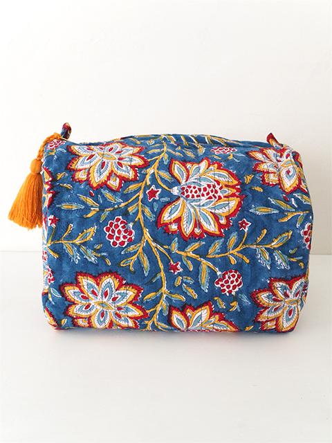 Jamini ジャミニ ミディアムポーチ Medium Pouch・LOUISE Blue(W20xH15xマチ11cm)