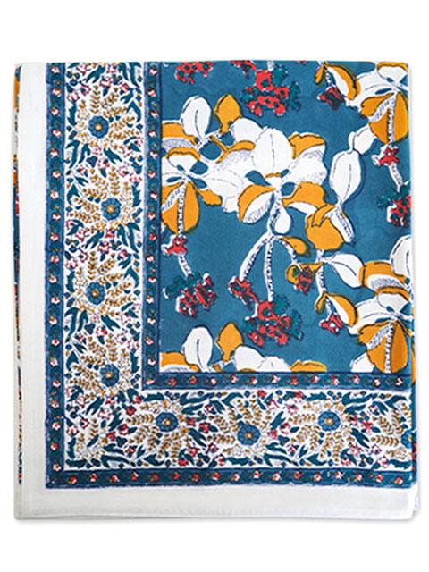 Jamini ジャミニ テーブルクロス Table cloth・IRIS Jean(W240xH135cm)