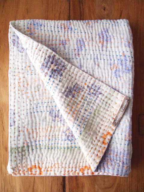 Jeanette Farrier  Baby Vintage Kantha ジャネット ファリア・ベビーブランケット ヴィンテージ カンタ キルト・08