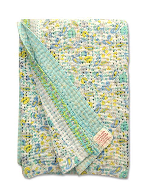 Jeanette Farrier  Baby Vintage Kantha ジャネット ファリア・ベビーブランケット ヴィンテージ カンタ キルト・003