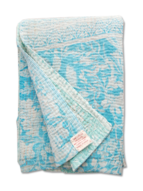 Jeanette Farrier  Baby Vintage Kantha ジャネット ファリア・ベビーブランケット ヴィンテージ カンタ キルト・005