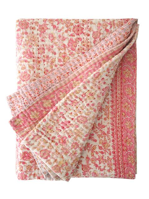 ジャネット ファリア ヴィンテージカンタ ラリーキルト ベビーブランケット Jeanette Farrier Vintage Kantha Baby Blanket・Type.T