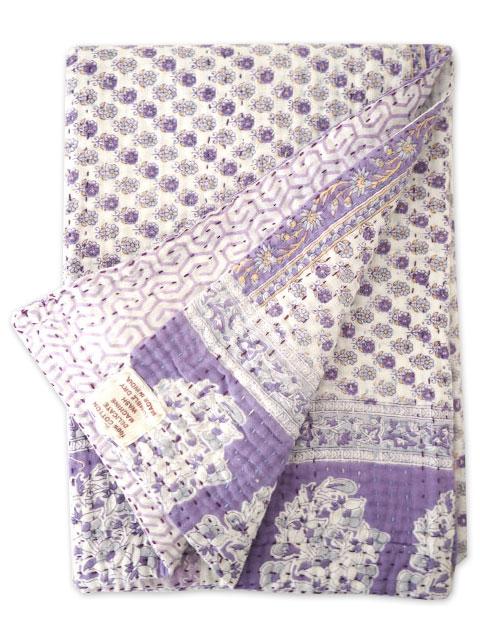 ジャネット ファリア ヴィンテージカンタ ラリーキルト ベビーブランケット Jeanette Farrier Vintage Kantha Baby Blanket・Type.C