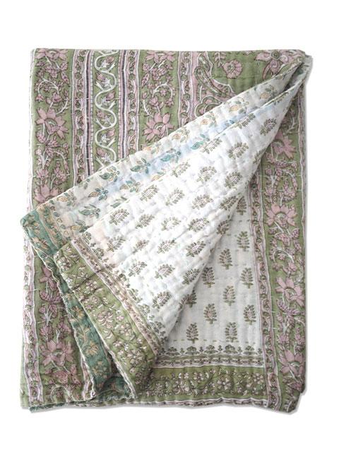 ジャネット ファリア ヴィンテージカンタ ラリーキルト ベビーブランケット Jeanette Farrier Vintage Kantha Baby Blanket・Type.06