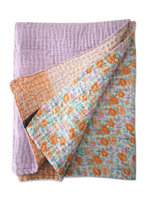 ジャネット ファリア ヴィンテージカンタ ラリーキルト ベビーブランケット Jeanette Farrier Vintage Kantha Baby Blanket・Type.09