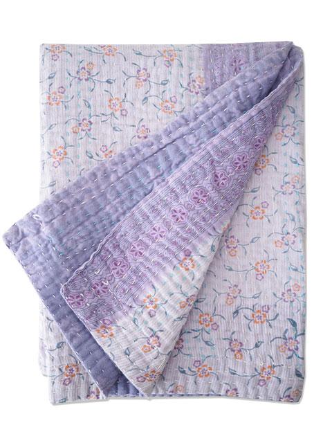 ジャネット ファリア ヴィンテージカンタ ラリーキルト ベビーブランケット Jeanette Farrier Vintage Kantha Baby Blanket・Type.12