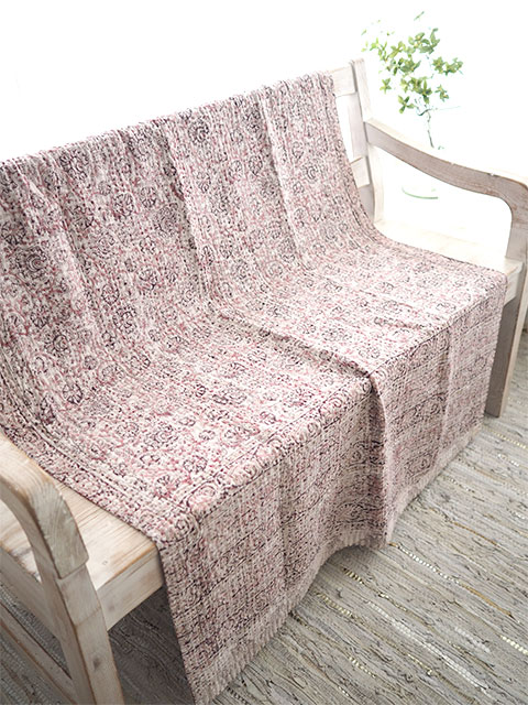 『SALE セール40%OFF』ジャネット ファリア ヴィンテージカンタ ラリーキルト シングルスロー Jeanette Farrier Vintage Kantha Single Throw・Type.03