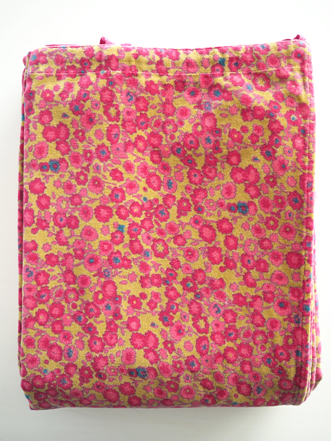 Bagaille バガイユ Velour Curtain ベロアカーテン・フルーレット ゴールデン アニス(Fleurette Golden Anis/100x260cm)Type.A