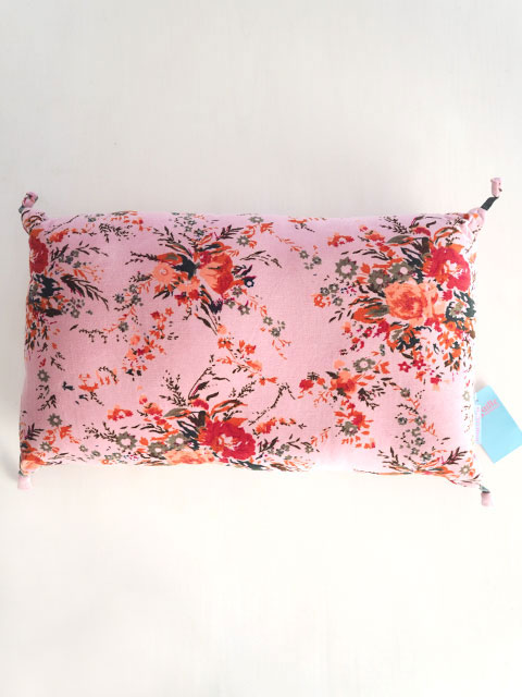 『SALE セール30%OFF』Bagaille バガイユ Pillow Cushion PomPom ピロークッション ポンポン(Forest Pink)Type.A