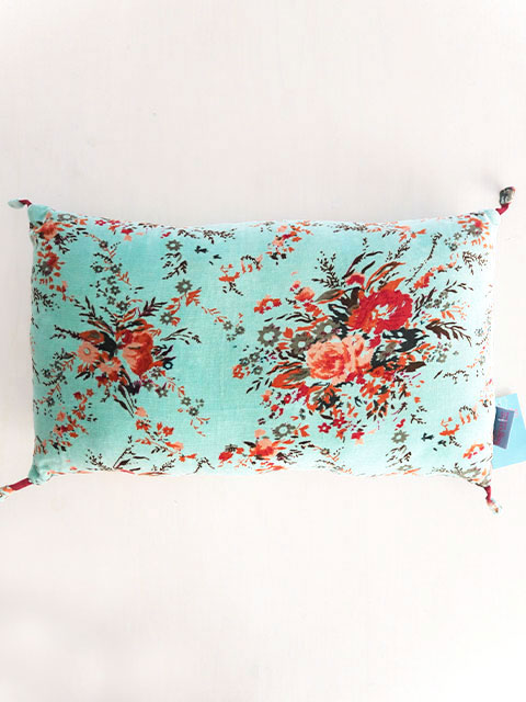 『SALE セール20%OFF』Bagaille バガイユ Pillow Cushion PomPom ピロークッション ポンポン(Forest Turquoise)Type.B