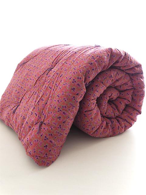 Bagaille バガイユ Quilt Multi Cover コットンキルト マルチカバー・フルーレット ルージュ(Fleurette Rouge/200x220cm)