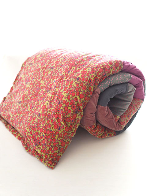 『SALE セール20%OFF』Bagaille バガイユ Quilt Multi Cover Patchwork キルト マルチカバー パッチワーク・フルーレット ゴールデン アニス(Fleurette Golden Anis/86x208cm)Type.A