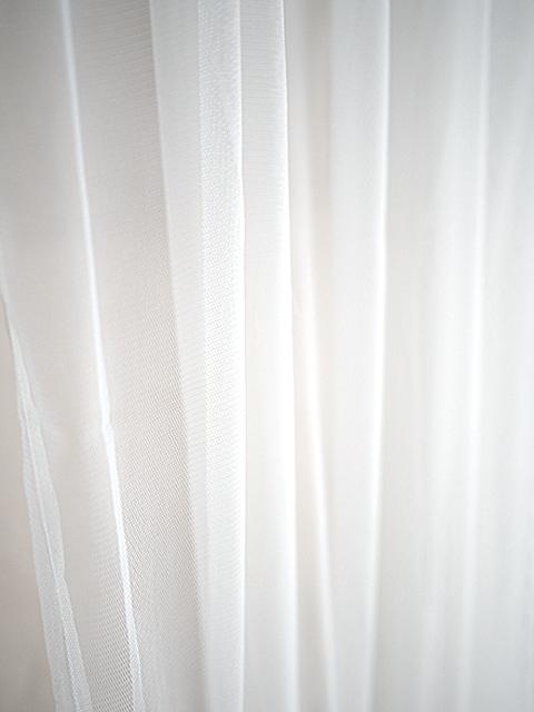 オンフィル ダンディエンヌ En fil d'Indienne カーテン TULLE Blanc(W130xH280cm)