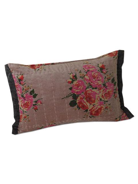 オンフィル ダンディエンヌ En fil d'Indienne ピロークッション Rosy Velours Rose( 30x45cm・中材入り)Type.A