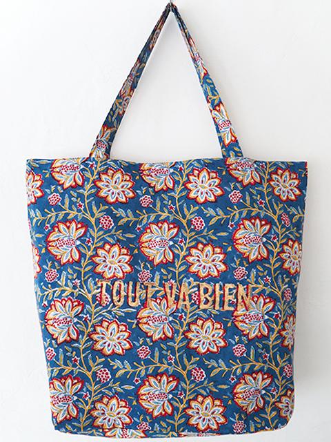 Jamini ジャミニ トートバッグ エコバッグ Tote Bag ・LOUISE Blue/TOUT VA BIEN/