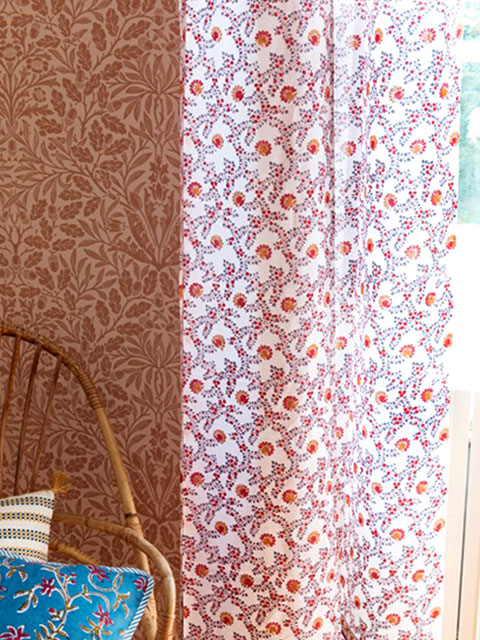 Jamini ジャミニ カーテン Curtain・ANIMA Offwhite(W110xH250cm)(1枚)