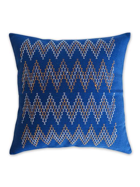 Jamini ジャミニ クッションカバー Cushion-cover・KASHI BLUE(W37xH37cm/Type.A)(カバーのみ)