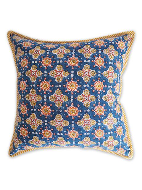 Jamini ジャミニ クッションカバー Cushion-cover・ANTARA BLUE(W40xH40cm/Type.B)(カバーのみ)