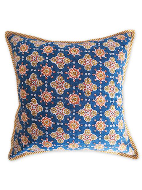 Jamini ジャミニ クッションカバー Cushion-cover・ANTARA BLUE(W40xH40cm/Type.D)(カバーのみ)