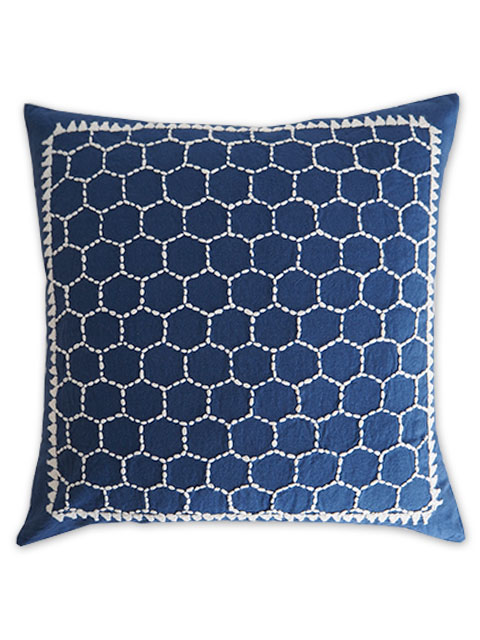 Jamini ジャミニ クッションカバー Cushion-cover・LADAKH BLUE(W40xH40cm/Type.A)(カバーのみ)