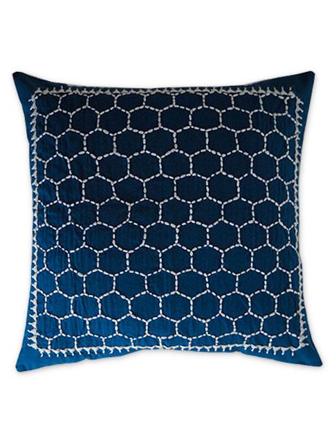 Jamini ジャミニ クッションカバー Cushion-cover・LADAKH BLUE(W40xH40cm/Type.B)(カバーのみ)