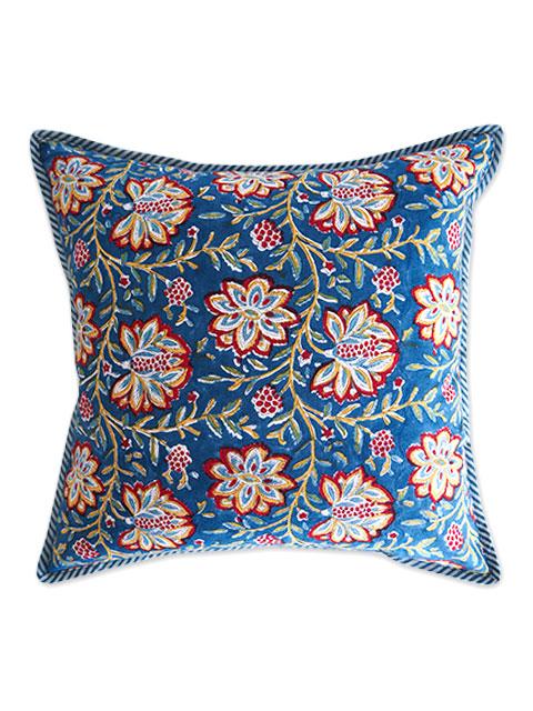 Jamini ジャミニ クッションカバー Cushion-cover・LOUISE BLUE(W40xH40cm/Type.A)(カバーのみ)