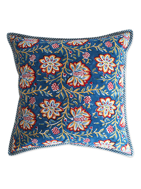 Jamini ジャミニ クッションカバー Cushion-cover・LOUISE BLUE(W40xH40cm/Type.B)(カバーのみ)