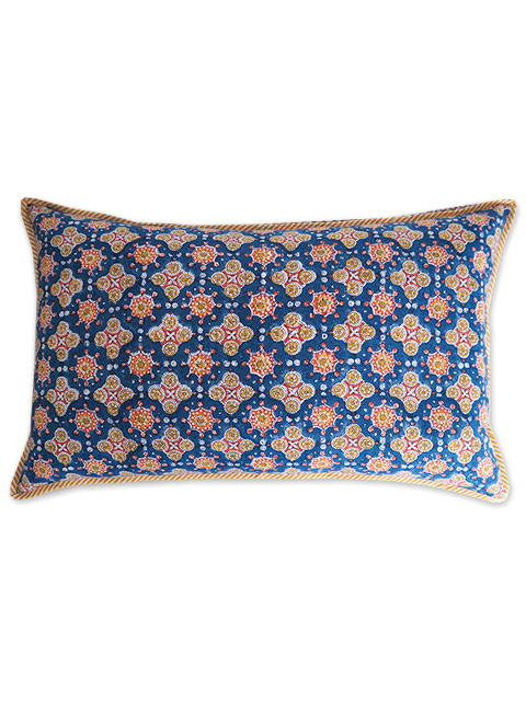 Jamini ジャミニ クッションカバー Cushion-cover・ANTARA BLUE(W65xH40cm/Type.B)(カバーのみ)