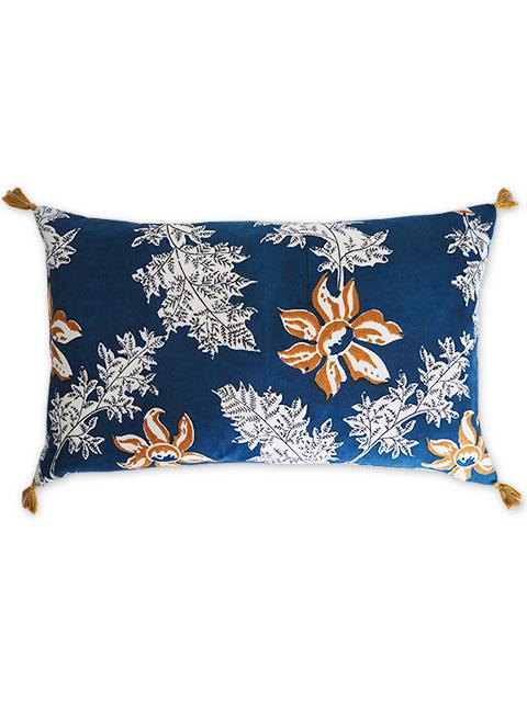 Jamini ジャミニ クッションカバー Cushion-cover・DEVI BLUE(W65xH40cm)(カバーのみ)