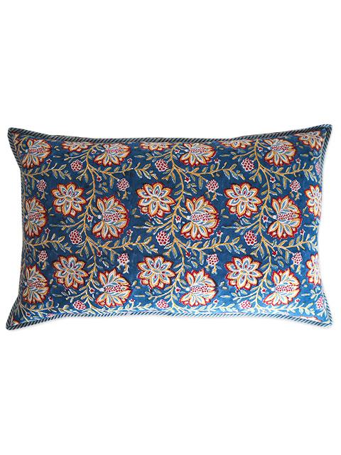 Jamini ジャミニ クッションカバー Cushion-cover・LOUISE BLUE(W65xH40cm)(カバーのみ)
