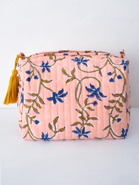 Jamini ジャミニ ミディアムポーチ Medium Pouch・ANAMIKA Pink(W20xH15xマチ12cm)