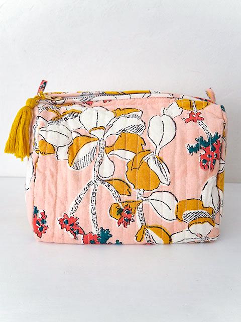 Jamini ジャミニ ミディアムポーチ Medium Pouch・IRIS Pink(W20xH15xマチ12cm)・Type.B