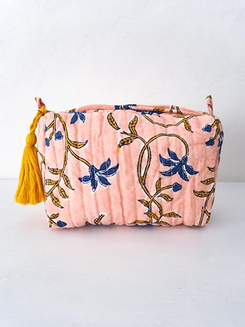 『お値引き20%OFF』Jamini ジャミニ スモールポーチ Small Pouch・ANAMIKA Pink(W15xH10xマチ5cm)
