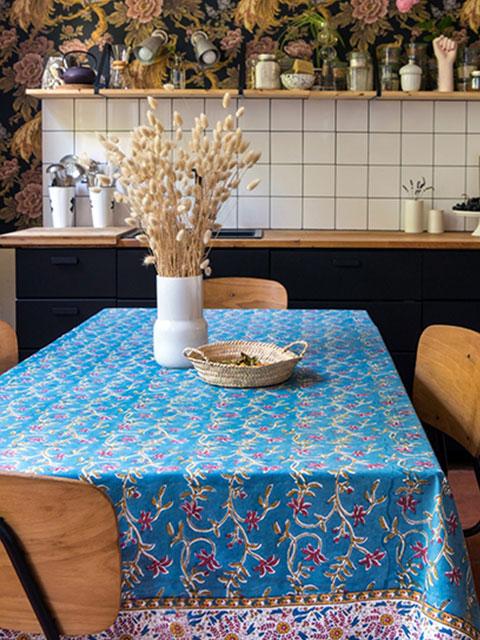 Jamini ジャミニ テーブルクロス Table cloth・ANAMIKA Jean(W240xH135cm)
