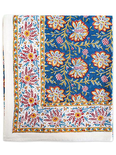 Jamini ジャミニ テーブルクロス Table cloth・LOUISE Blue(W240xH135cm)