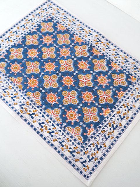 Jamini ジャミニ テーブルマット Table Mat・ANTARA Blue(W45xH35cm)