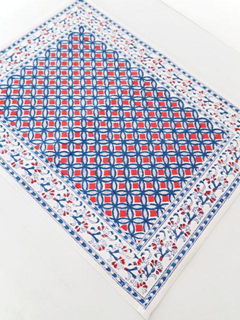 Jamini ジャミニ テーブルマット Table Mat・MAHAUT Terracotta(W45xH35cm)
