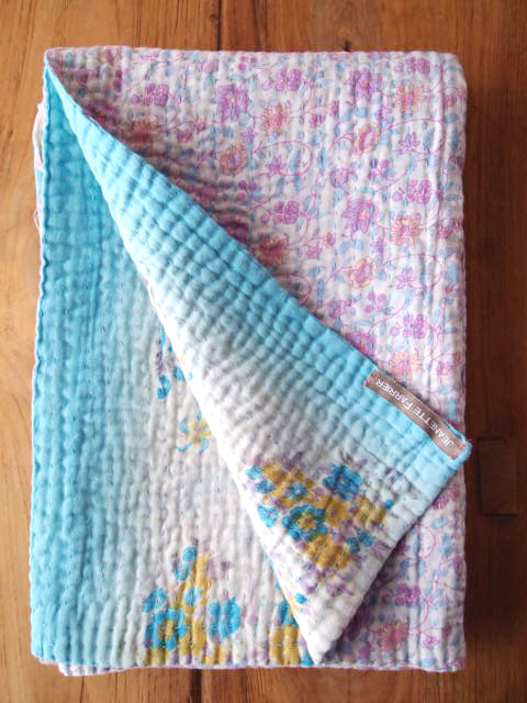 Jeanette Farrier  Baby Vintage Kantha ジャネット ファリア・ベビーブランケット ヴィンテージ カンタ キルト・02