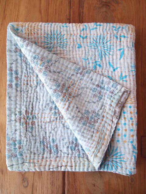 Jeanette Farrier  Baby Vintage Kantha ジャネット ファリア・ベビーブランケット ヴィンテージ カンタ キルト・09