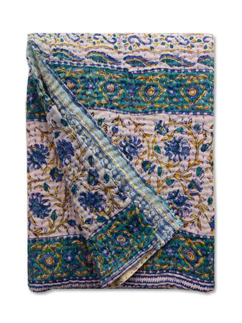 Jeanette Farrier  Baby Vintage Kantha ジャネット ファリア・ベビーブランケット ヴィンテージ カンタ キルト・009